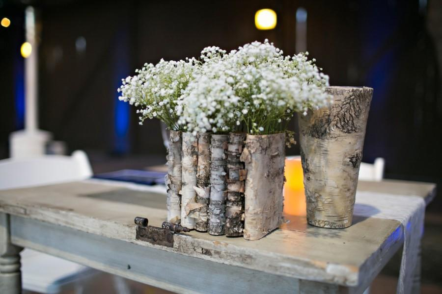 Charmant Birch Bark Wood Vases Wedding Table Decor Flower Pot, Rustic Wedding Decor  Centerpiece, Flowers, Tabletop Decorations
