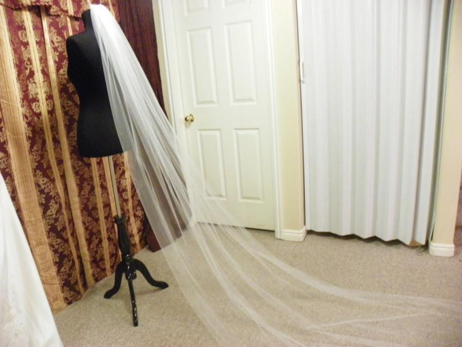"Mariage - Cathedral wedding veil long 120"" White, Ivory, Diamond white"
