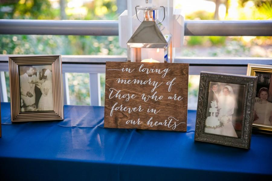 Mariage - In Loving Memory Sign - Wooden Wedding Signs - Wood