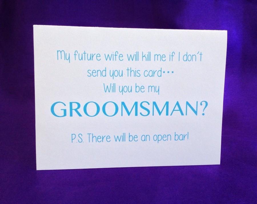 زفاف - Funny Will You Be My Groomsman Card