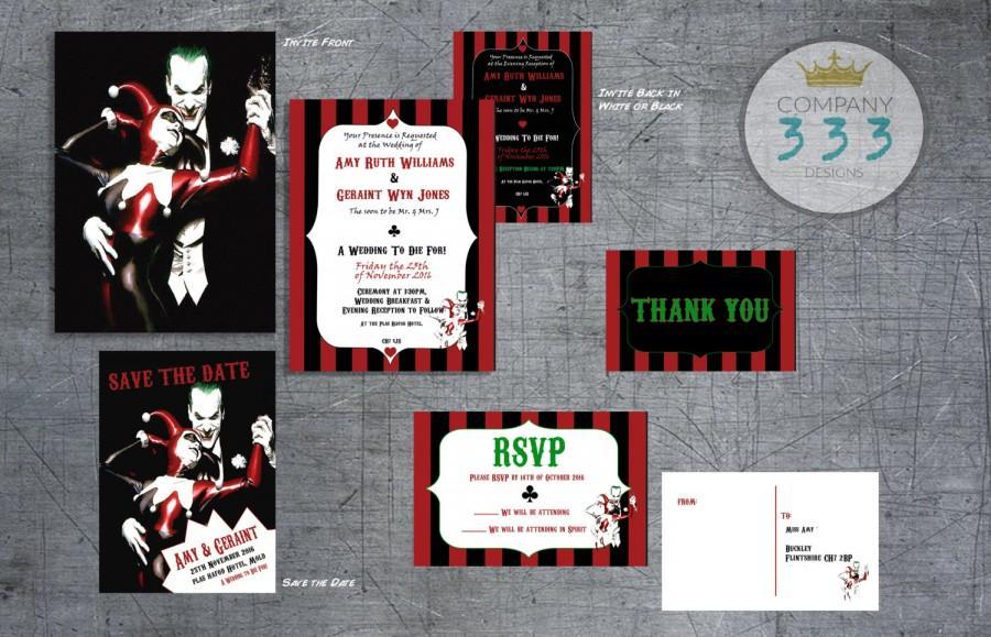 Superhero Wedding Suite - Superhero Wedding Printable DIY Set - Printable Invite, Save The Date ...