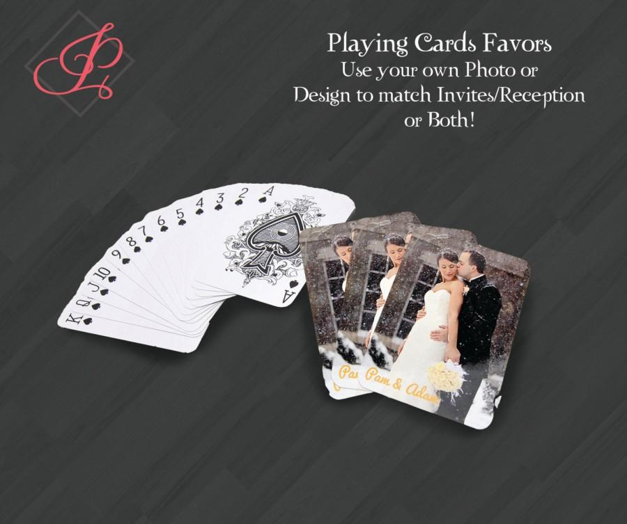 Hochzeit - Personalized Playing Cards Gift or Favors for Your Special Event
