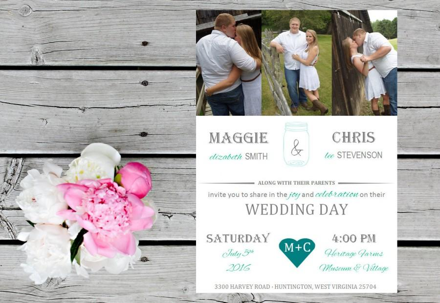 زفاف - Country Photos Wedding Invitation, Response Card, Address Printing