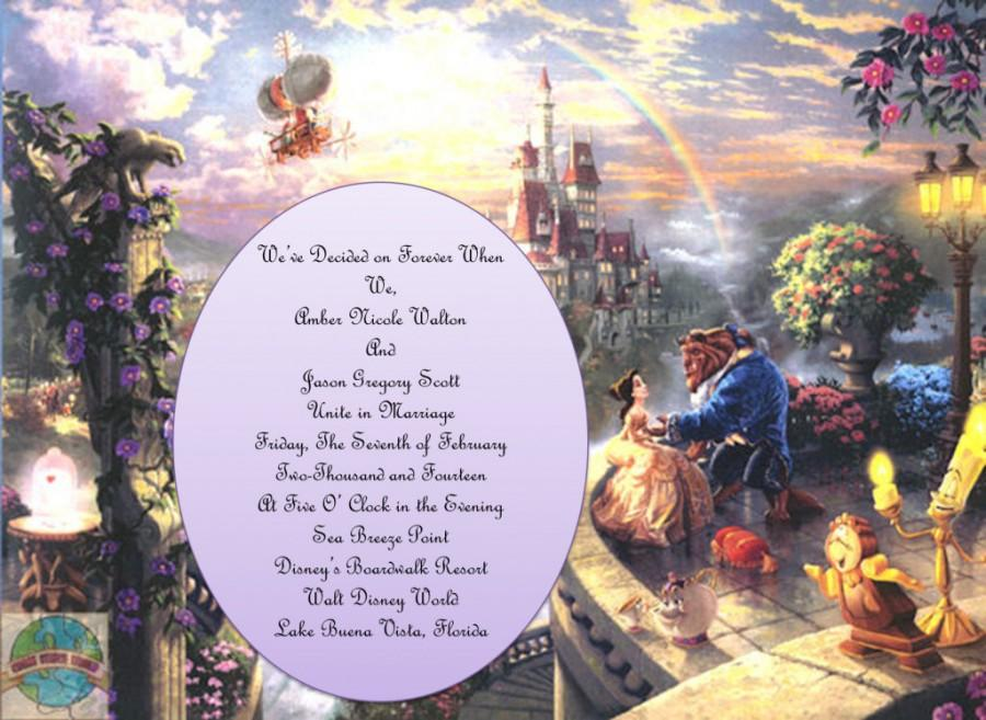Wedding - Beauty and the Beast Theme Wedding Invitations