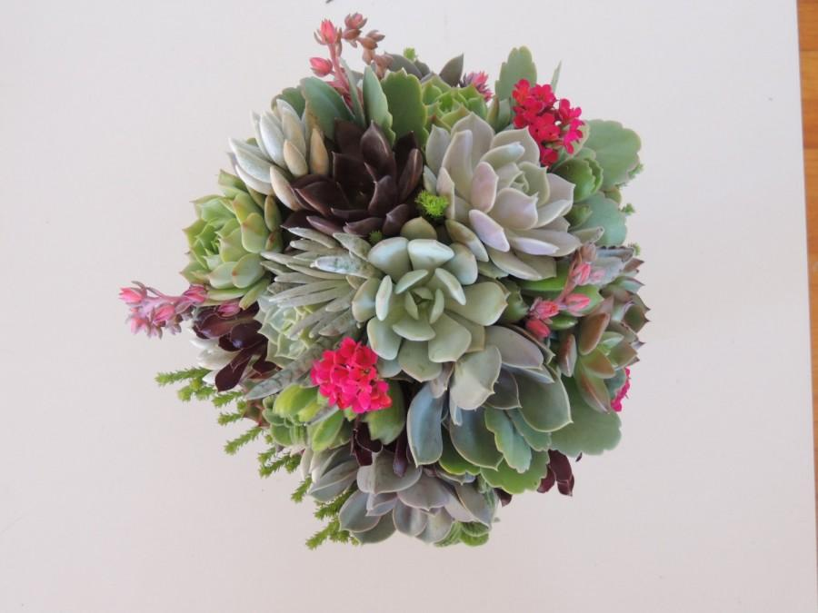 Mariage - Succulent wedding bouquets, Succulent bridal bouquet, Bridal bouquet