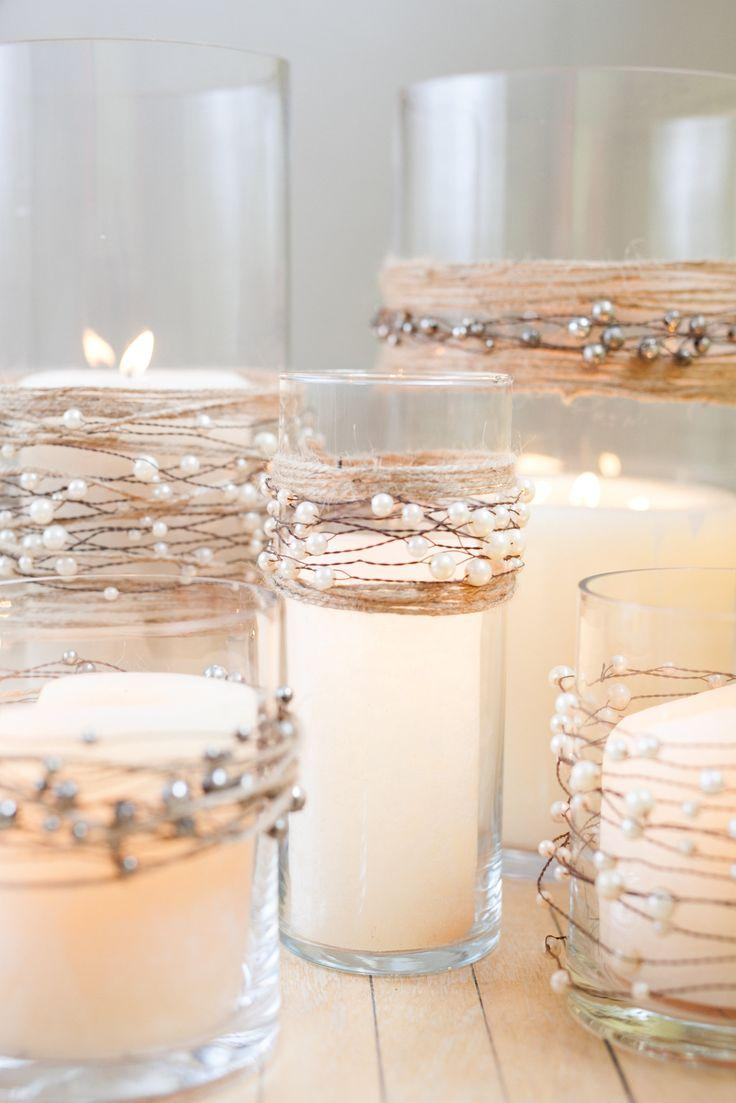 Mariage - Pearl Beads On Wire Garland