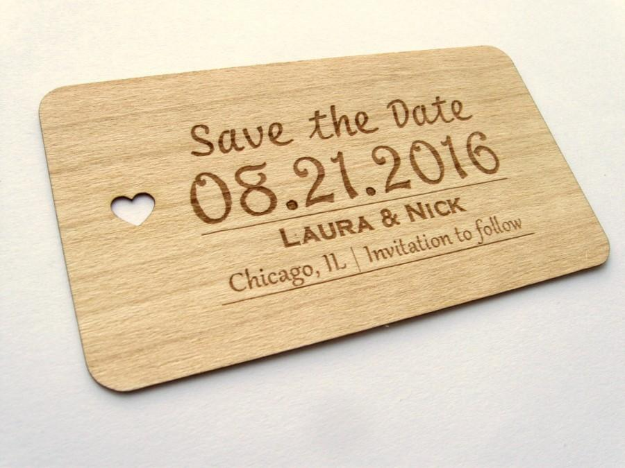 Mariage - Save the date wood card (50)  / Wooden Save the Date card / Rustic Save the Date , Wedding Save the Date- Wood Personalize