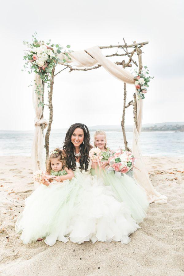 Mariage - Pink Pastel Beach Wedding In Carmel