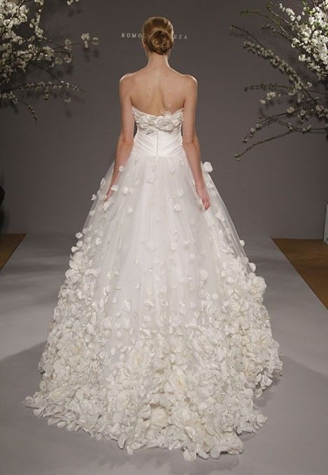 A Wedding Dress That Looks Like It S Made Of Flower Petals