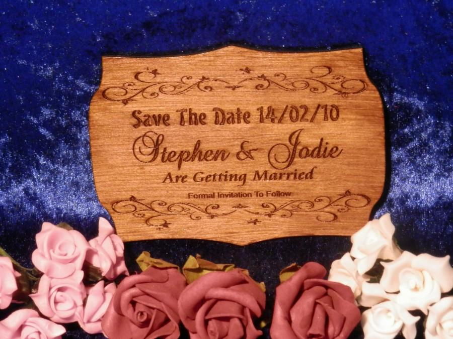 Mariage - Save The Date Card - Ply - Laser Engraved & Cut - Vary In Size But Approx 80mm x 100mm Option 7