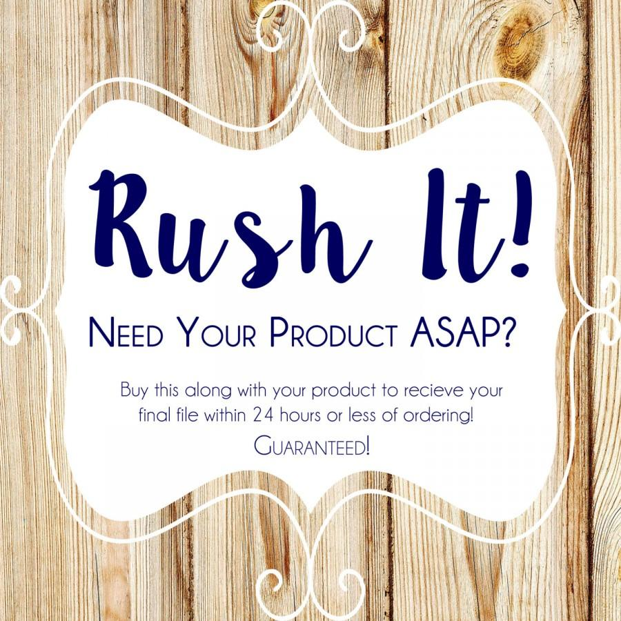 Mariage - RUSH Order Product ADD-ON