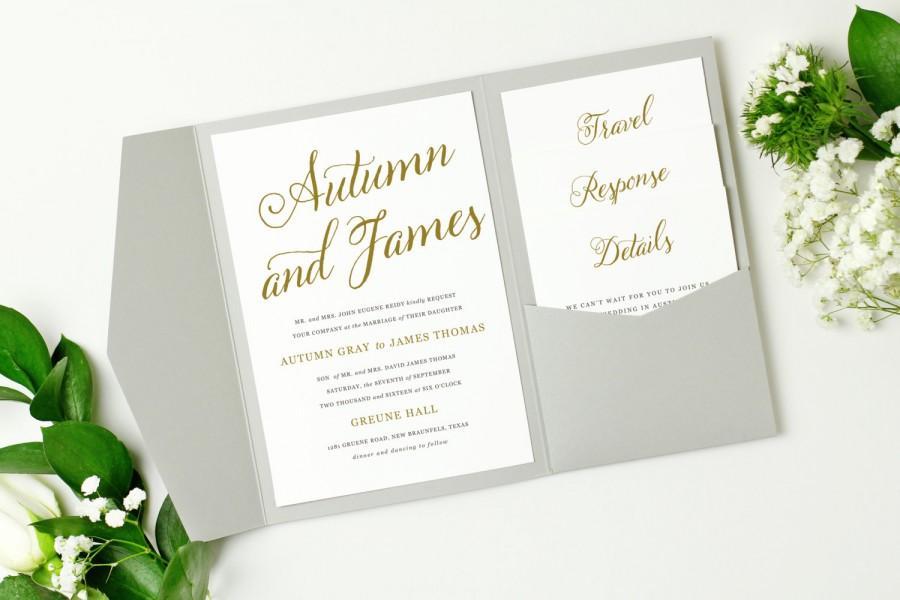 Mariage - Pocket Wedding Invitation Template - INSTANT DOWNLOAD