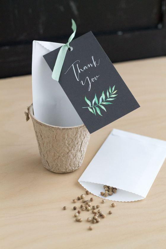 Mariage - Botanical Herb Wedding Favors