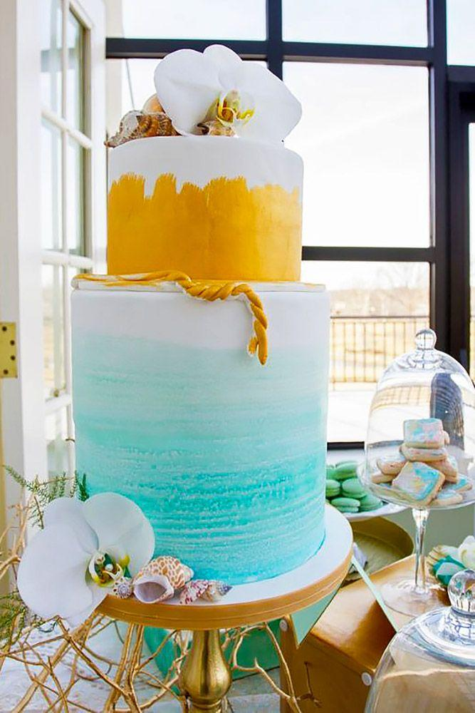 18 Tropical Wedding Cakes That Wow