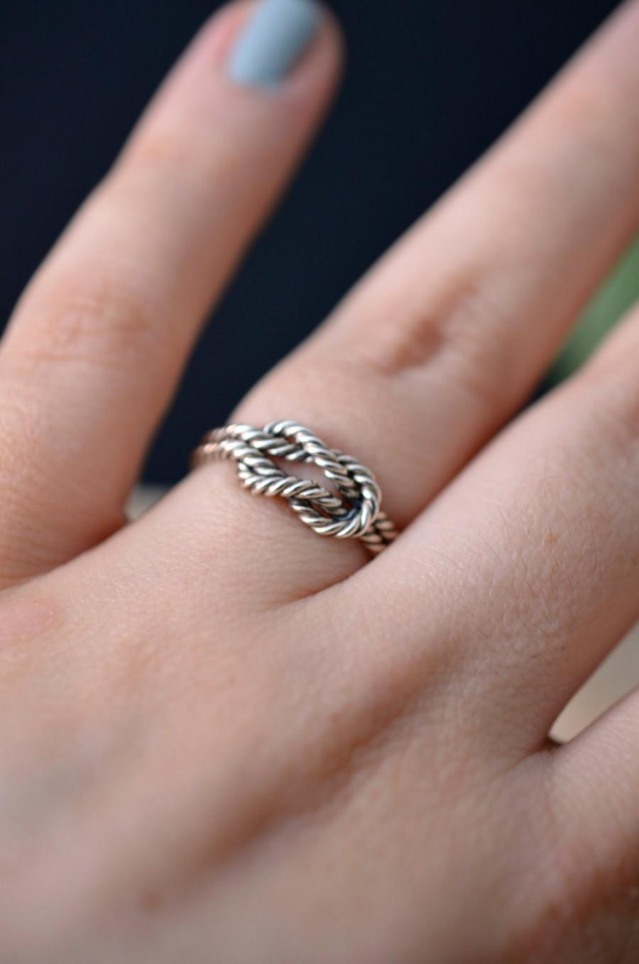 Nautical Rope Knot Ring In Sterling Silver - Engagement Ring / Gift ...