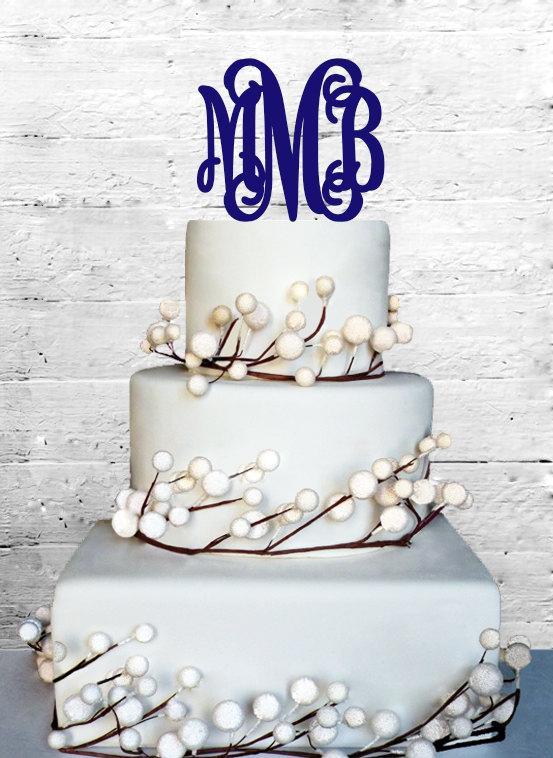 """Свадьба - 6"""" Personalized Custom Wedding Monogram Cake Topper Monogram cake topper Personalized Cake topper Acrylic Cake Topper"""