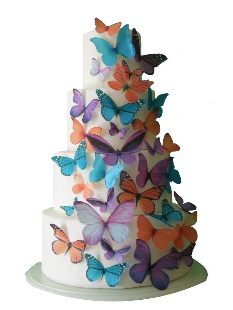 Mariage - Edible Butterfly Cake Toppers - MADDISON - Cake Decorations - Butterfly Cake Toppers