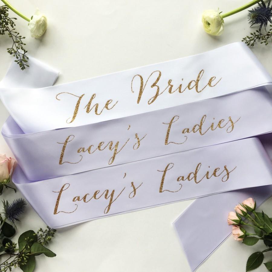 زفاف - Custom Bachelorette Bridal Party Sash Pack - PACK of bridal party sash- bridesmaid sash- Bachelorette Sash - Satin Bride Sash -