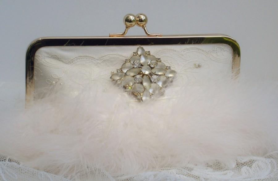 زفاف - Great Gatsby /  Downton Abbey / Wedding Clutch /1920s Wedding