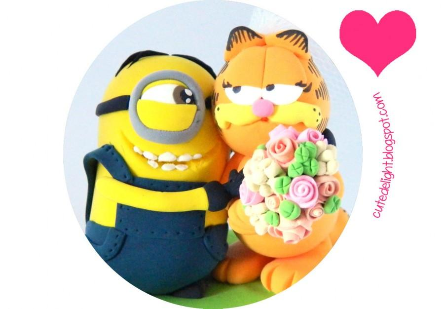 Minion Cake Topper, Garfield Cake Topper, Despicable Me Cake Topper ...