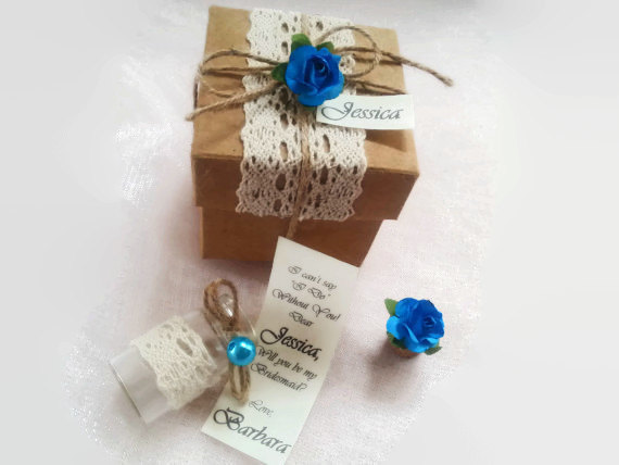 Sale Bridesmaid Gift Will You Be My Bridesmaid Message In A – Message in a Bottle Party Invitations