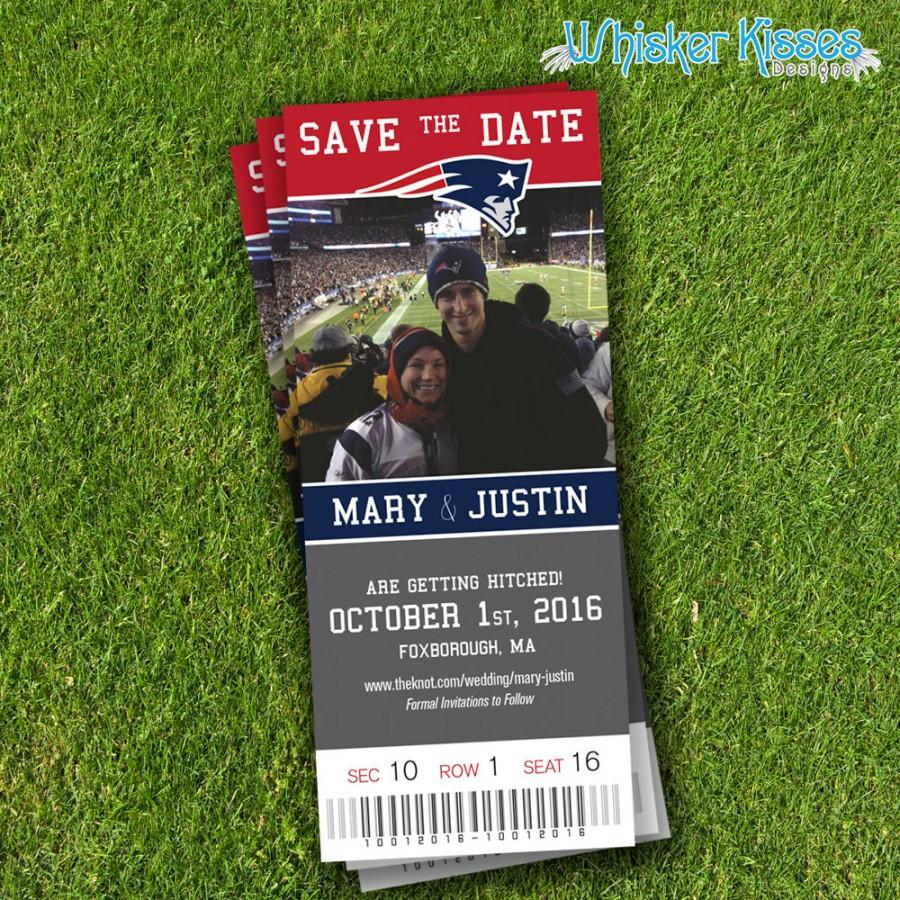 diy pdf sports ticket save the date wedding announcement football