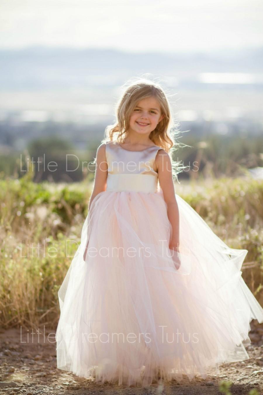 Свадьба - NEW! The Juliet Dress in Champagne Blush - Flower Girl Tutu Dress