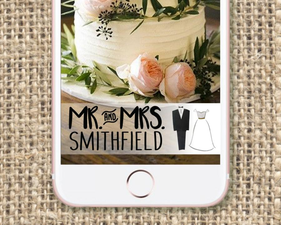 Wedding Snapchat Geo Filter   Custom And Personalized   Mr & Mrs
