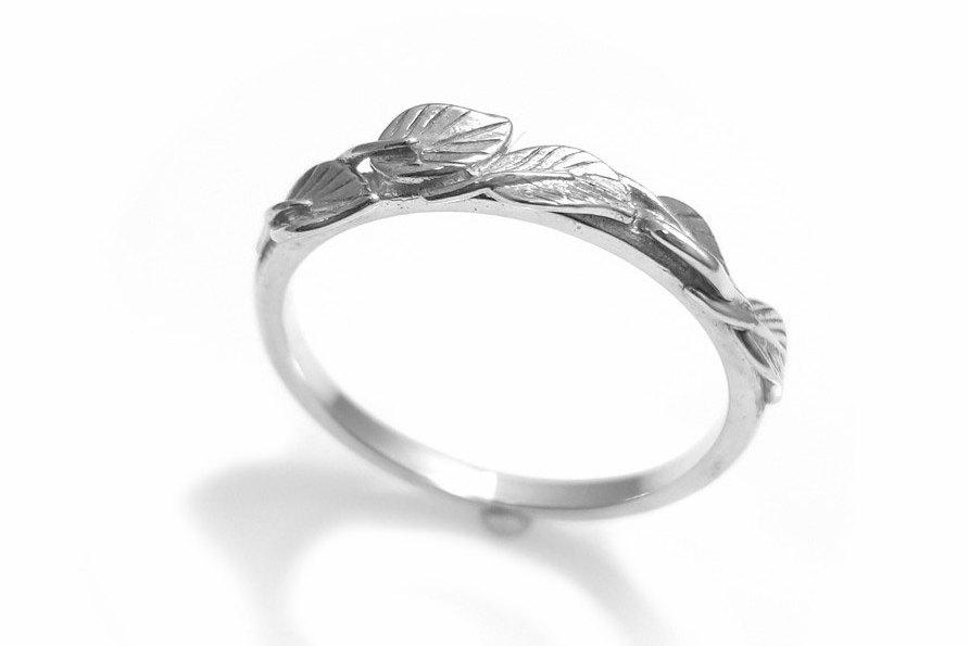 bands eternity of boho leaf custom awesome vine ring rings cluster wedding
