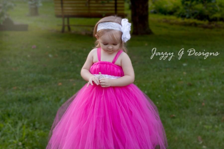 Свадьба - Paris Pink Tutu Dress-Paris Pink Flower Girl Tutu Dress- Paris Pink Flower Girl Dress-Photoprop