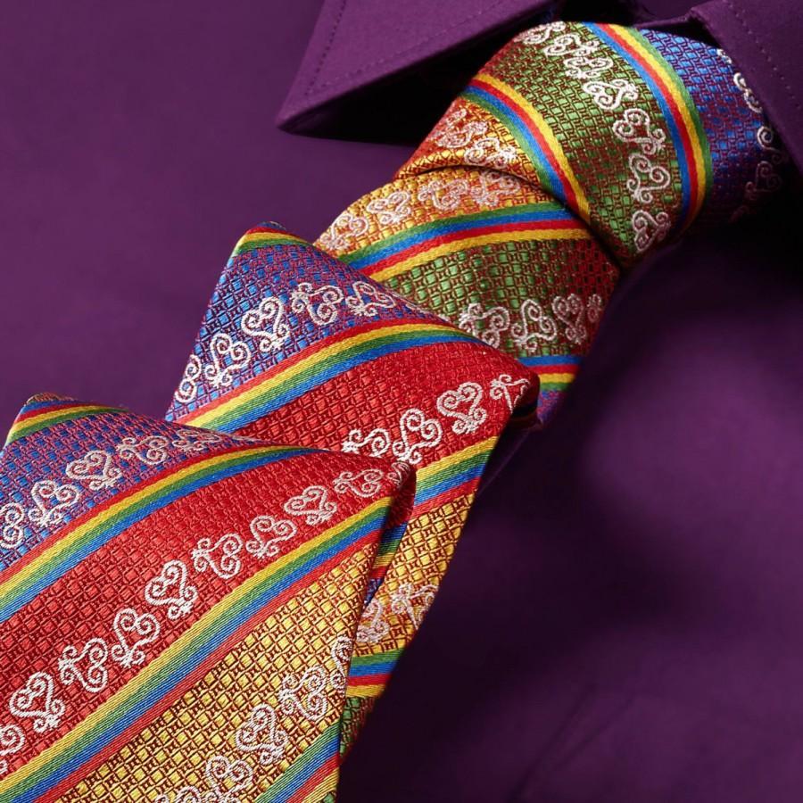 زفاف - Adinkra Gye Nyame Red Silk Tie, Africa Hand Woven Silk Self Tie, Adinkra Inspired Silk Tie, Silk Skinny Tie, Red Silk Adinkra Necktie