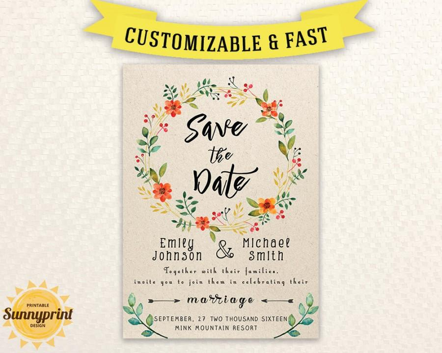 Printable Save The Date Template - Save The Date Printable - Save
