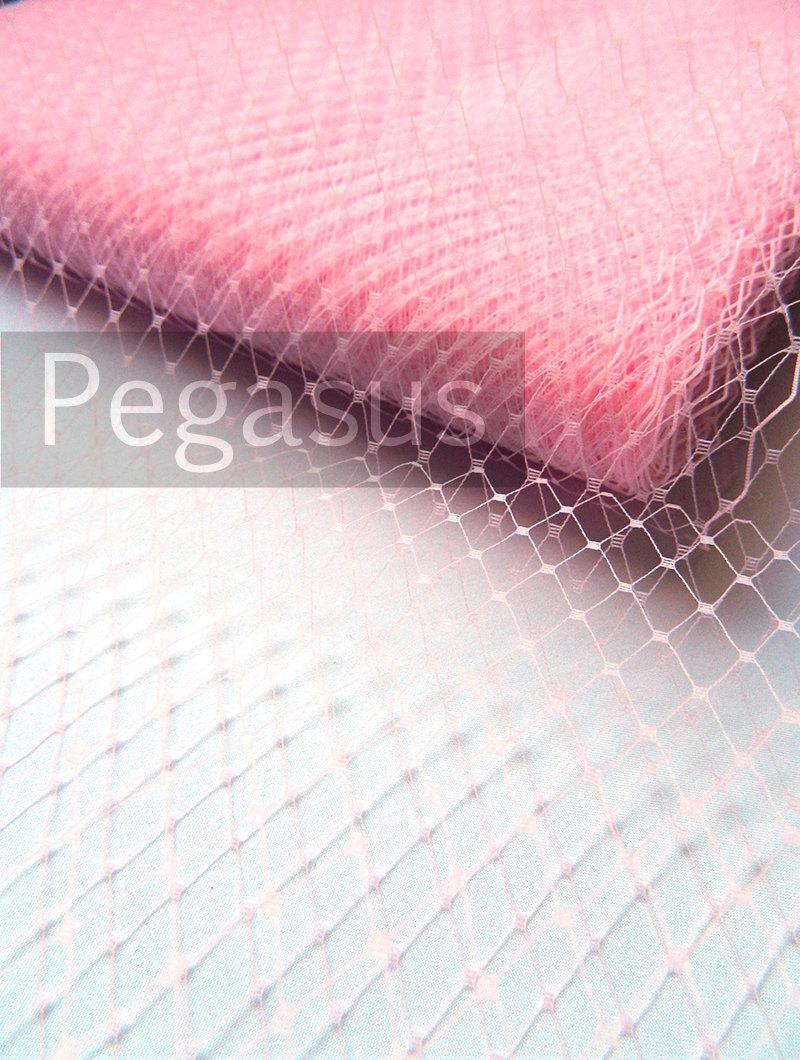 زفاف - Blush PINK French Netting (sold by the yard) Birdcage Veil Material for DIY wedding blusher veiling, hair accessories and costuming