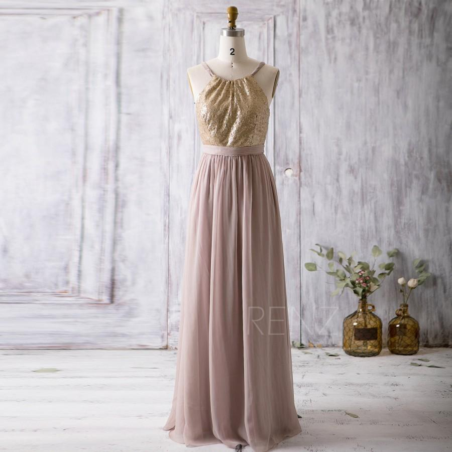 Light Gold Chiffon Bridesmaid Dresses
