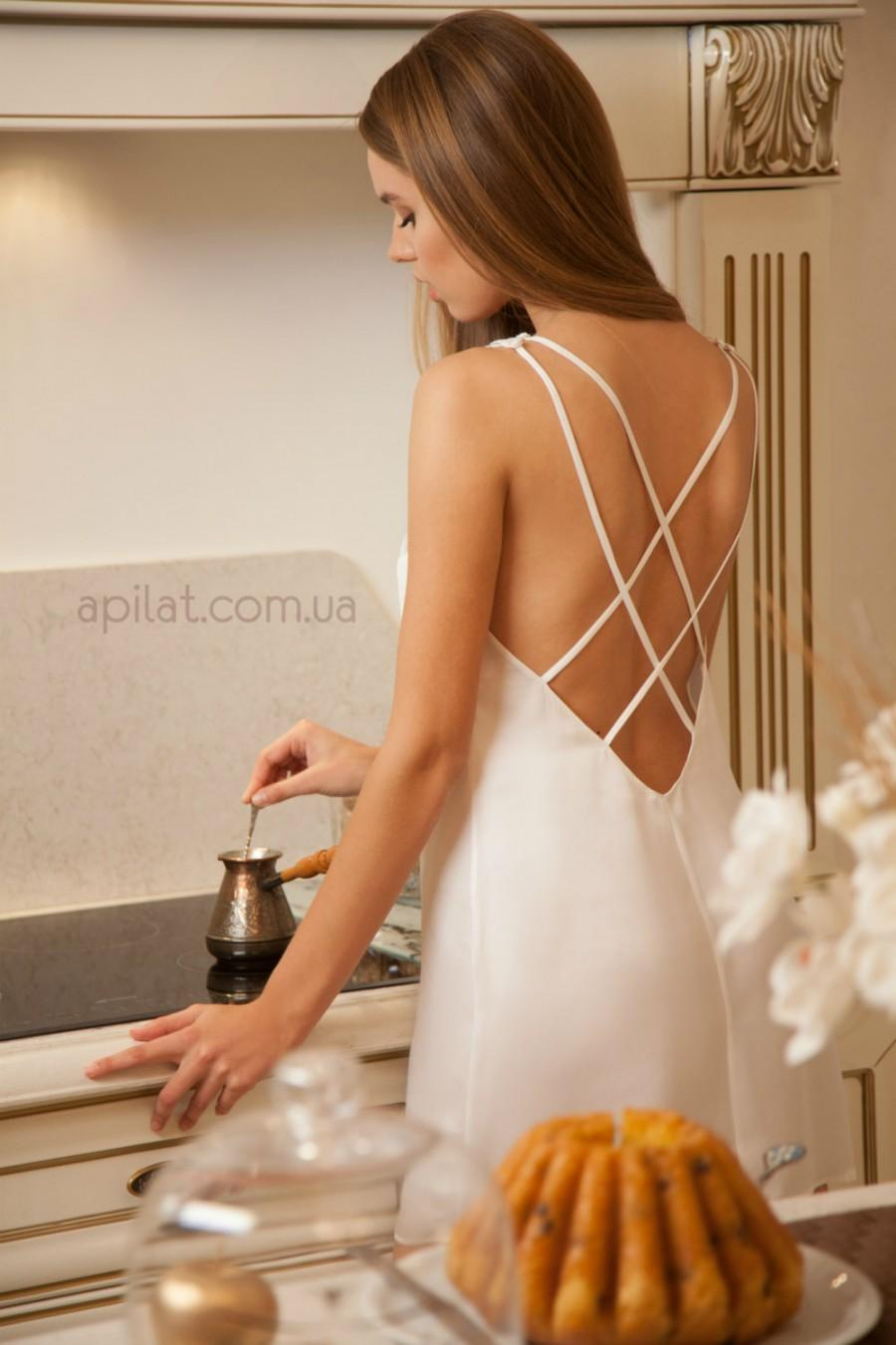 Свадьба - Bridal Silk Chemise from Pure Silk D11, Short Wedding Nightgown (Lingerie, Nightdress), Bridal Lingerie, Wedding Lingerie, Honeymoon