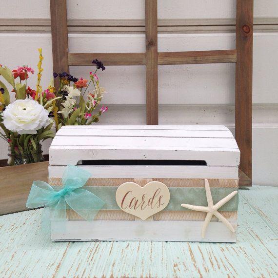 Rustic Wedding Card Box Seaside Decor Advice Beach Nautical CH07