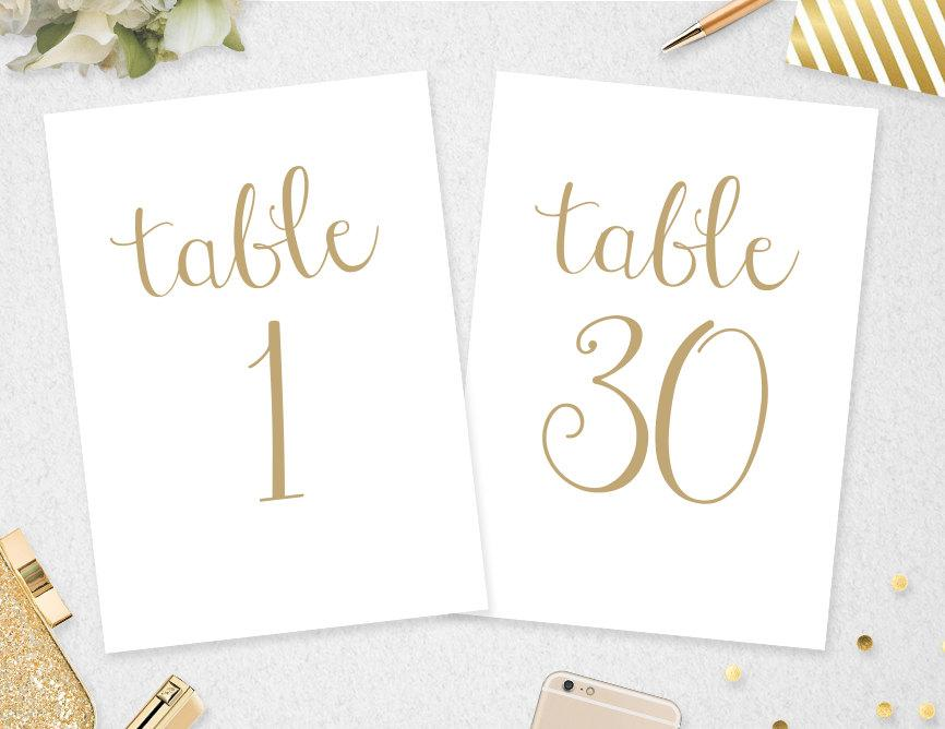 table numbers 1 30 instant download 5x7 4x6 printable