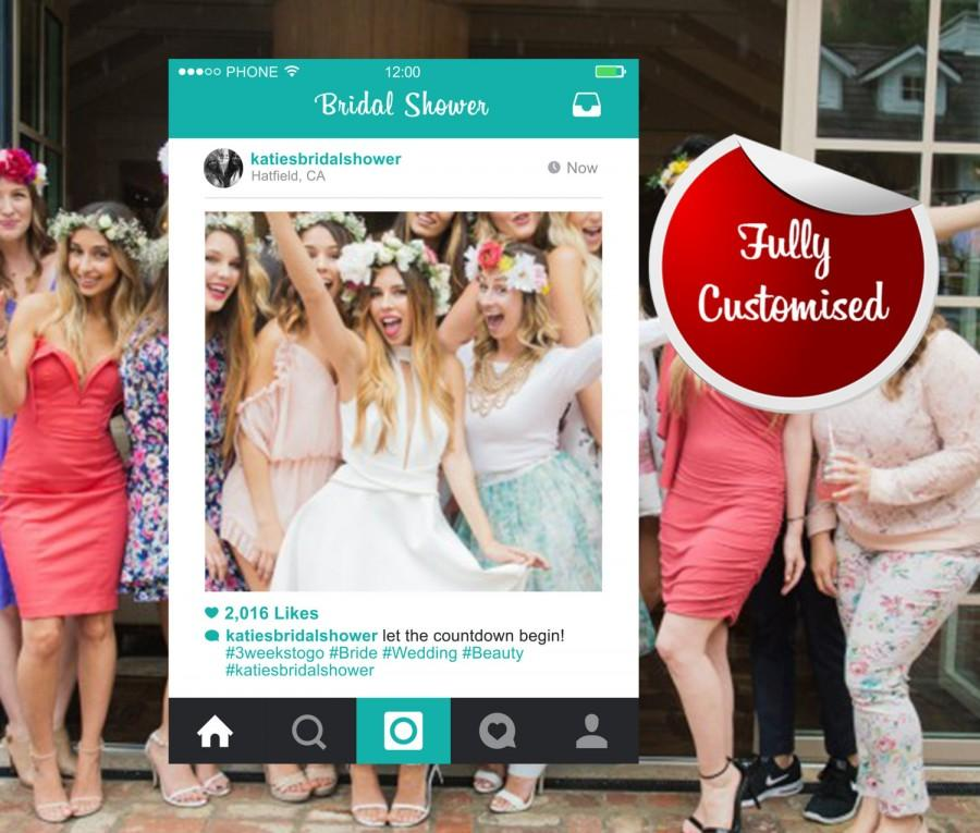 Bridal Shower Instagram Frame Photo Booth Hens Party ...