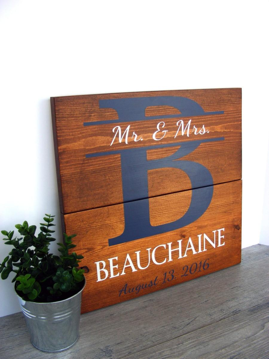Hochzeit - Custom Name Sign - Wedding Name Sign - Wedding Date Sign - Bridal Shower Gift - Wedding Gift - Wedding Present Idea - Personalized Name Sign
