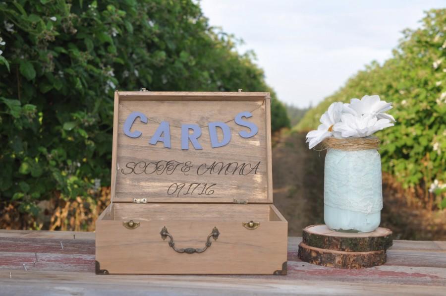wood wedding card holders%0A Wedding Card Box Rustic Wedding Card Holder Wedding Card Box