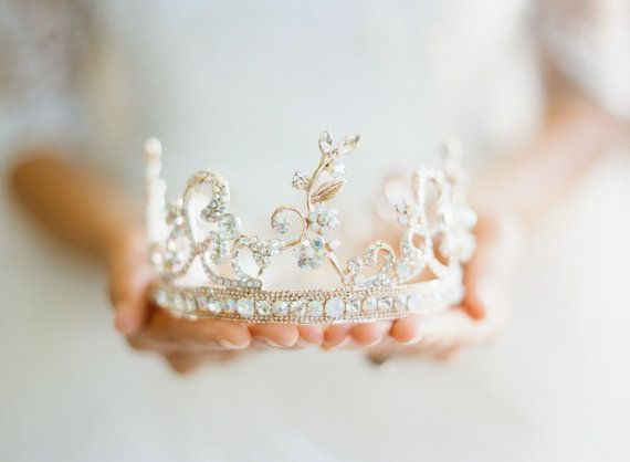 Wedding - Bridal Crown Rose Gold Tiara - AURORA, Swarovski Bridal Tiara, Full Crown, Wedding Tiara, Rose Gold Crown, As Seen On Style Me Pretty