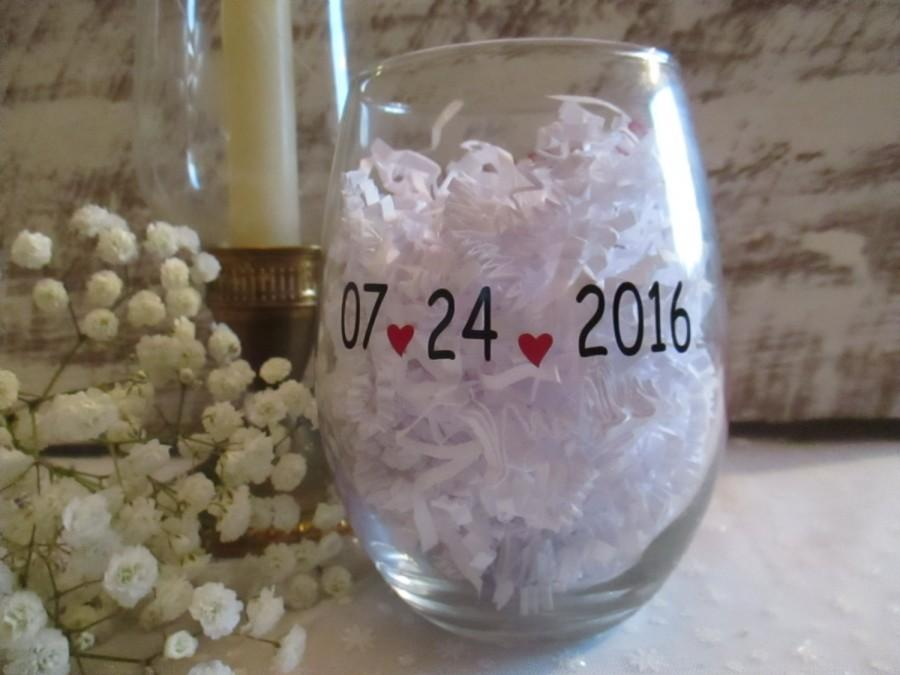 Hochzeit - Custom Wedding Date DIY Decal ~ Personalized Monogram Bridal Party ~ Rehearsal Dinner Save the Date ~ Bachelorette Party