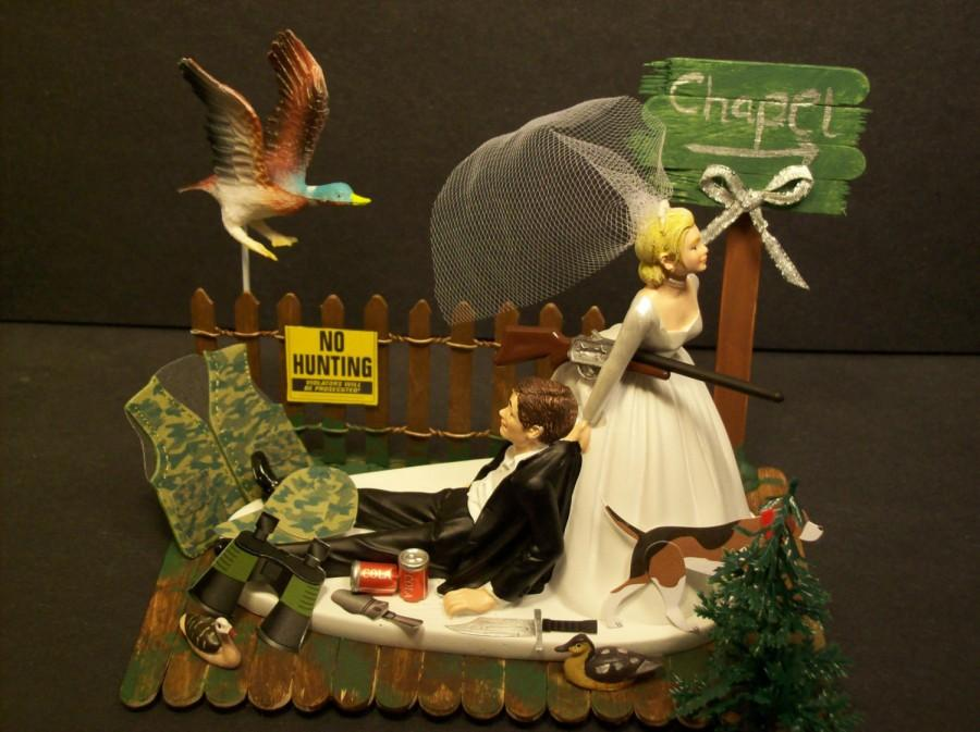 Funny Hunting Cake Toppers