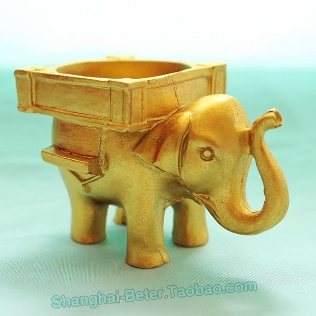 Mariage - 婚禮宴會留言卡夾喜糖盒BETER-SZ054創意婚禮小物 印度幸運大象燭臺回禮