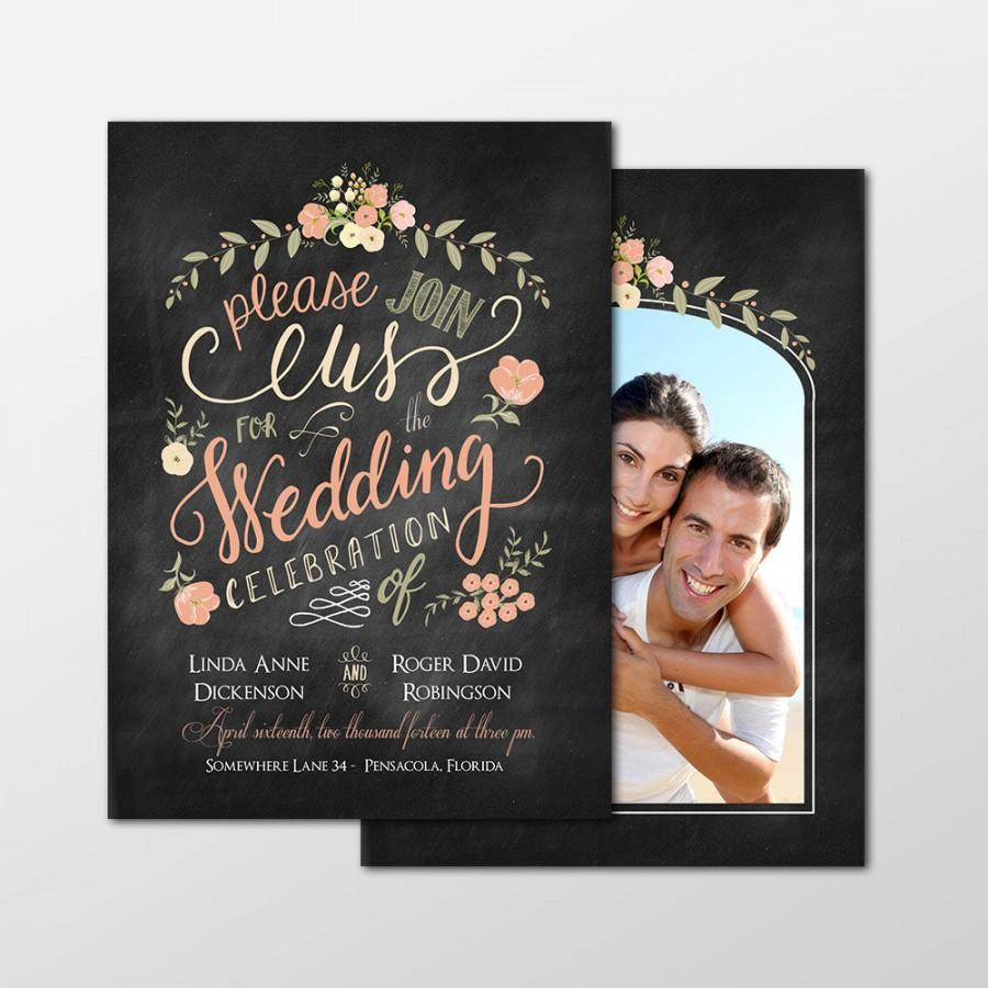custom personalized digital wedding invitation photo cards 5x7