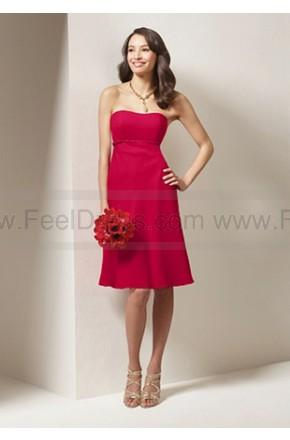 زفاف - A Line Satin Red Pretty Bridesmaid Dress UK