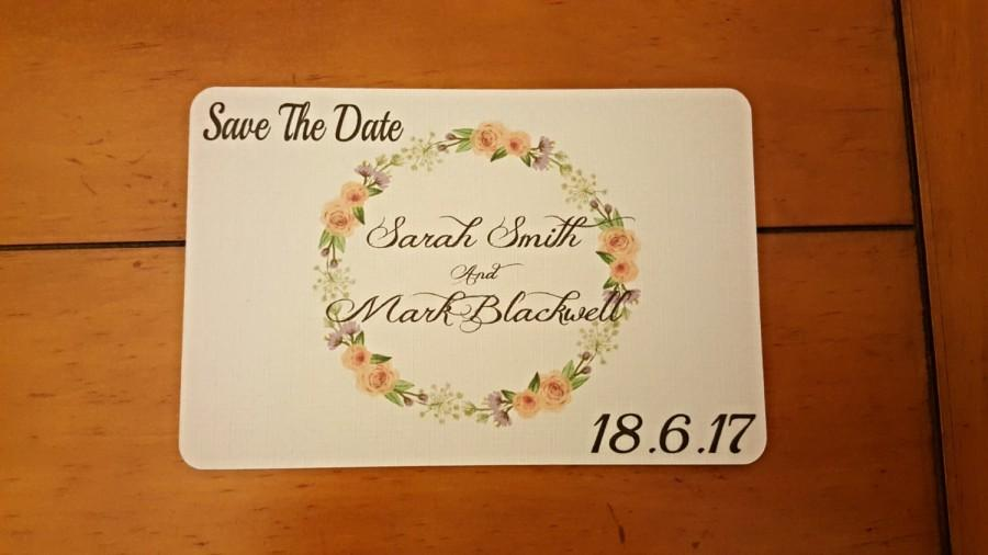 Hochzeit - Wedding Save the date ( rose garden) rustic, shabby chic, floral save the date