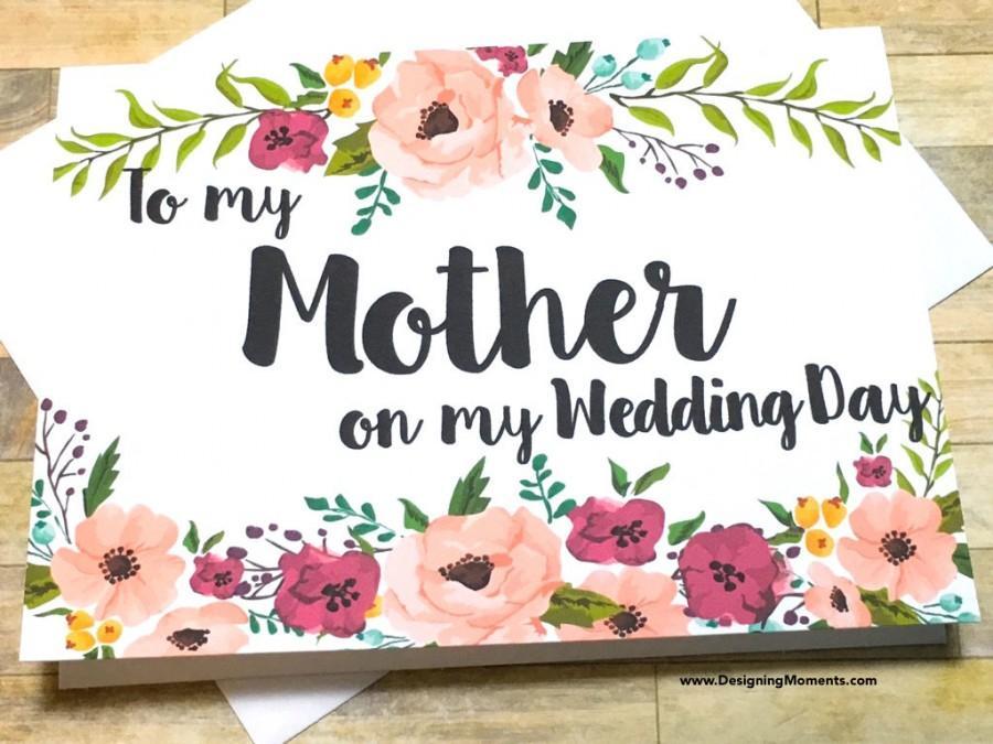 Wedding - Mom Thank You Mother Wedding Card, Mom Thank You Card, Thank You Mom, Mother Card, Wedding Day Mom Thank You Card, I Love You Mom
