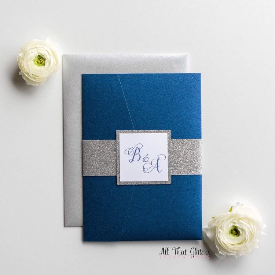 Elegant Wedding Invitations: Blue And Silver Elegant Wedding Invitations At Websimilar.org