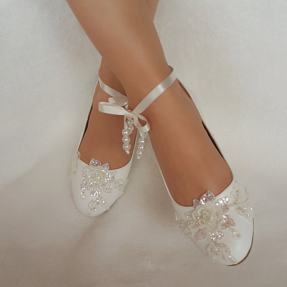 Свадьба - wedding shoes babette bridal shoes adorned with lace country wedding the bride and wedding accessories
